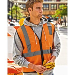 Class 2 Economy Vest with Zipper Front Thumbnail